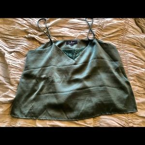 Lulus Satin Green Cami, Large, $28 new